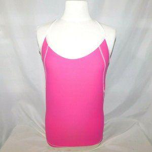 Alo Yoga Womens XL Pink Racer Back Tank Shelf Bra